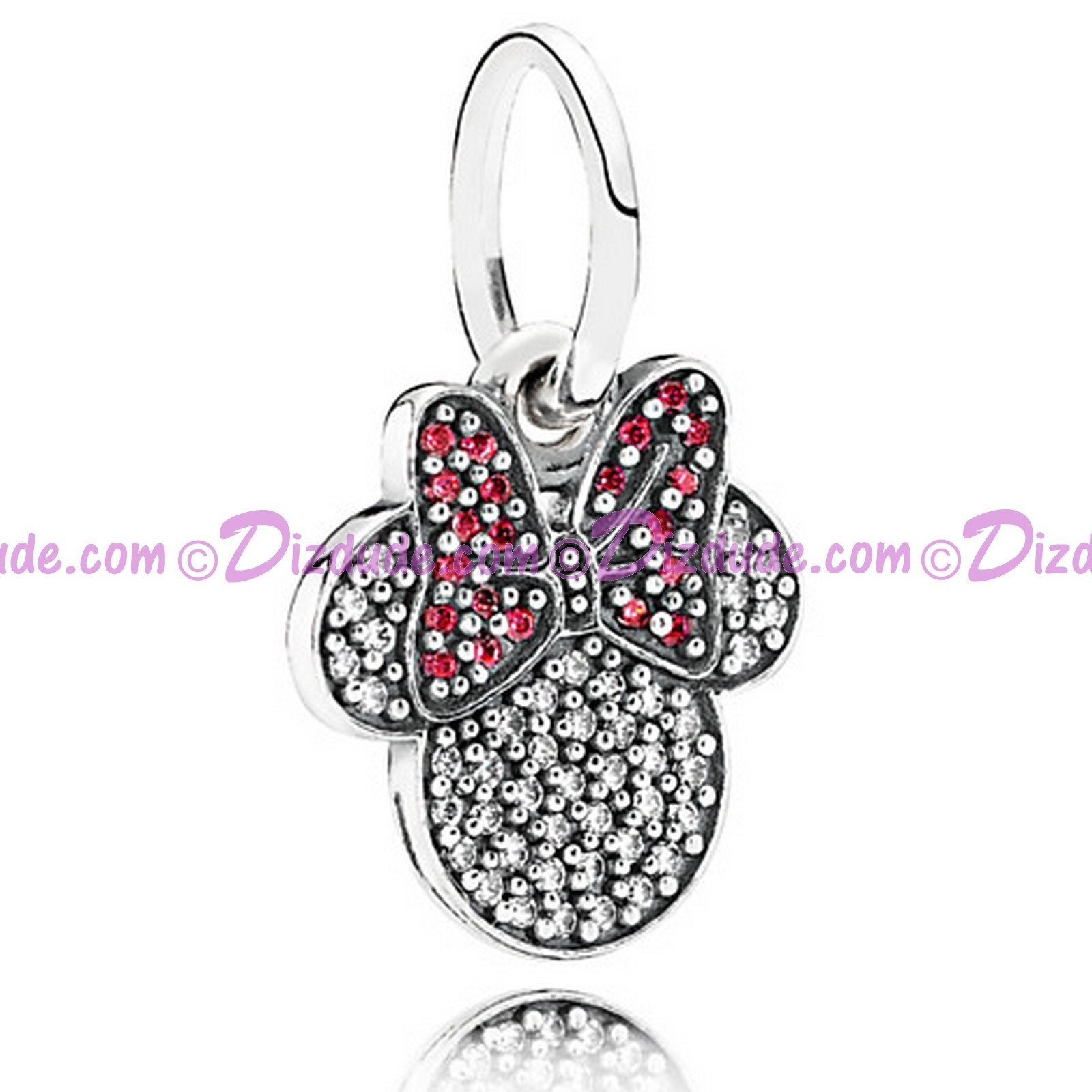 "Disney Pandora ""Sparkling Minnie Icon"" Sterling Charm with Cubic Zirconias"