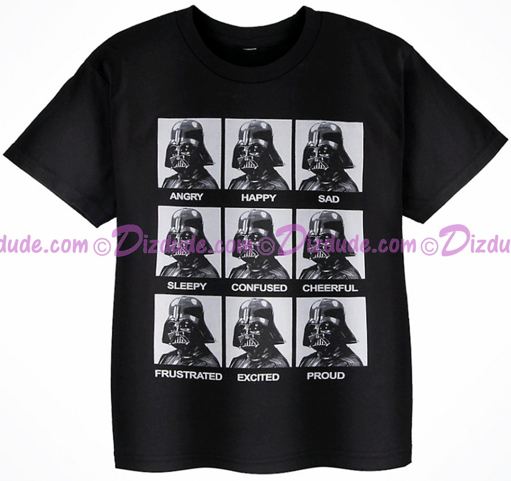 Disney Star Wars Darth Vader Emotions Youth T-Shirt (Tshirt, T shirt or Tee) © Dizdude.com