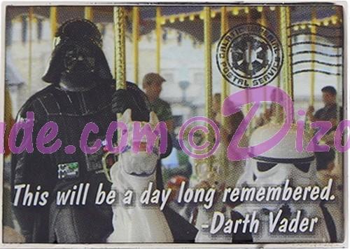 Disney Star Wars Darth Vader on a Carousel Pin