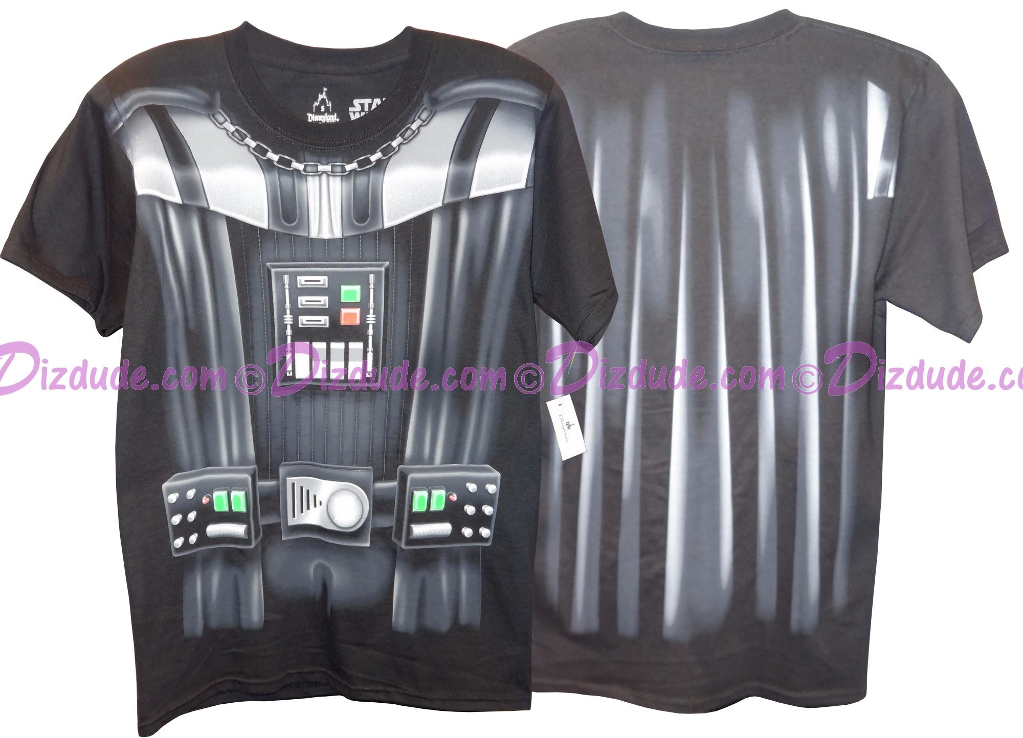 Disney Star Wars Darth Vader Armour Adult T-Shirt (Tshirt, T shirt or Tee) Printed Front & Back © Dizdude.com