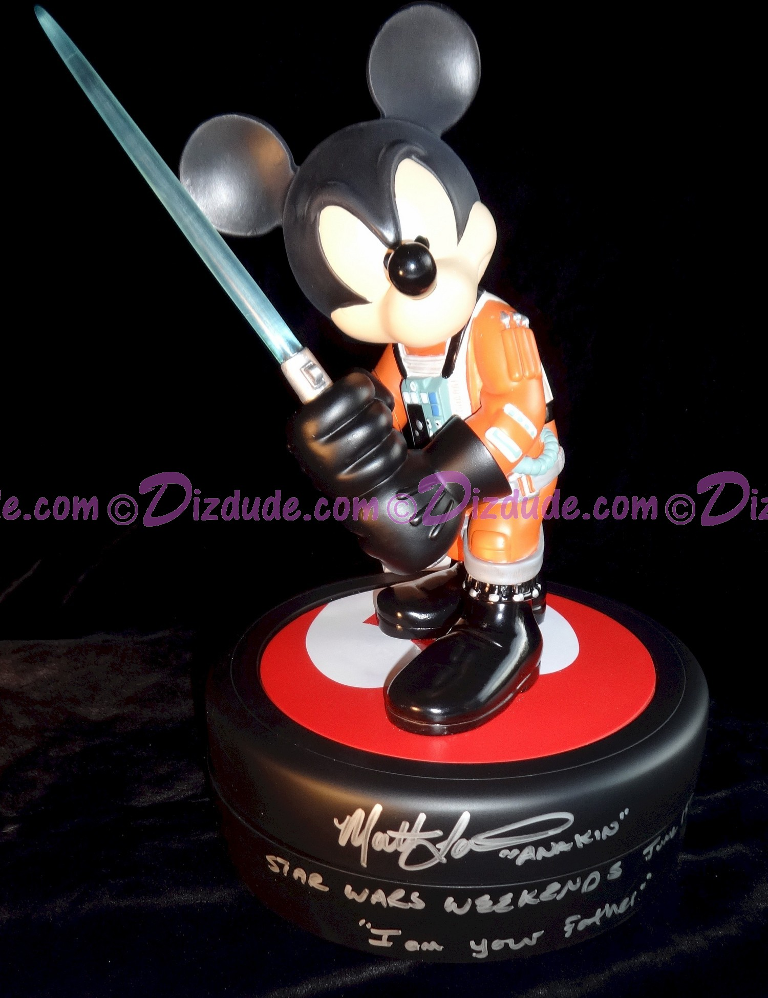 Mickey Mouse as Jedi Mickey X-Wing Pilot Signed by Matt Lanter - With Pin of LE 1977 & Signed by Costa Alavezos