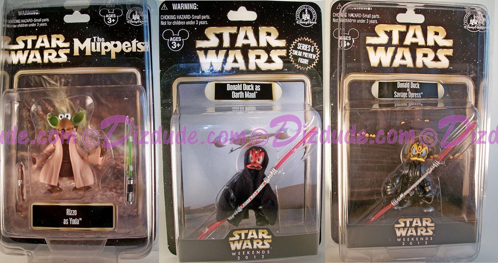 Disney Star Wars Weekend 2012 Complete Set of 3 Action Figures © Dizdude.com