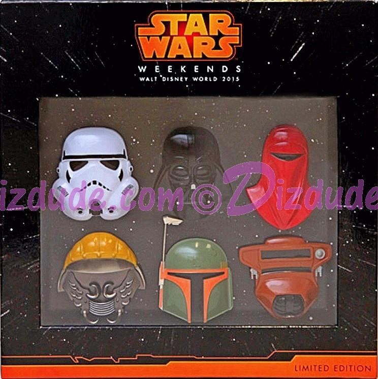 3D Helmet Pin Set Limited Edition 1000 - Disney Star Wars Weekends 2015 Event © Dizdude.com
