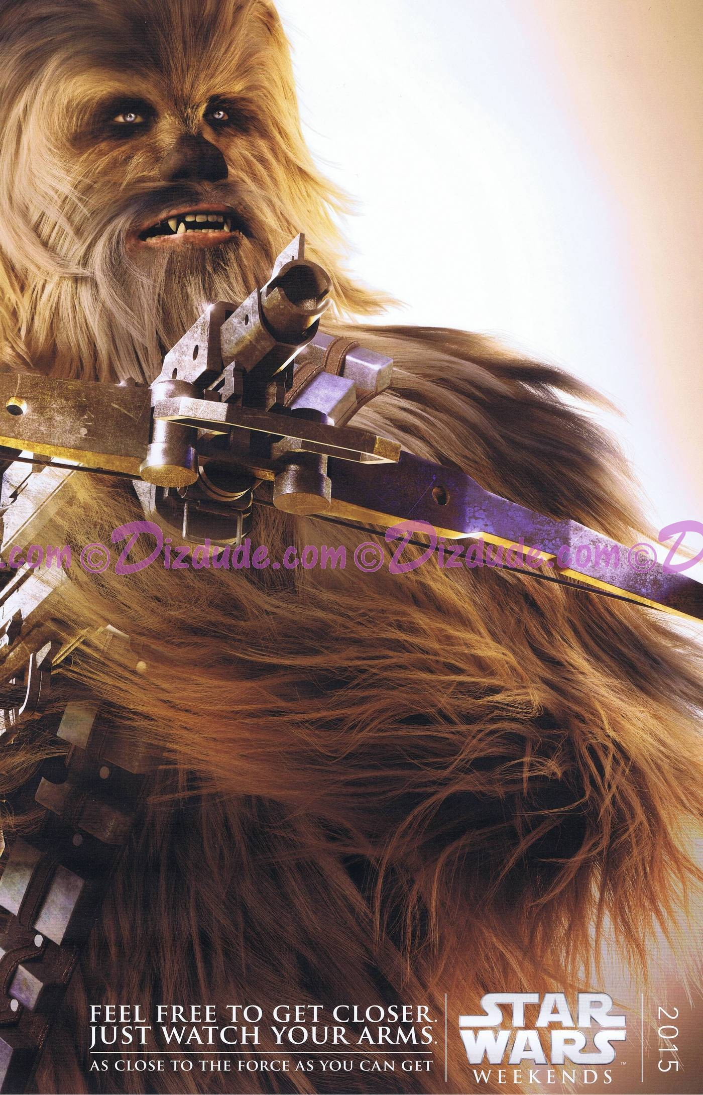 Disney Star Wars Weekends 2015 Week 5 Chewbacca Passholder Poster Event Exclusive © Dizdude.com