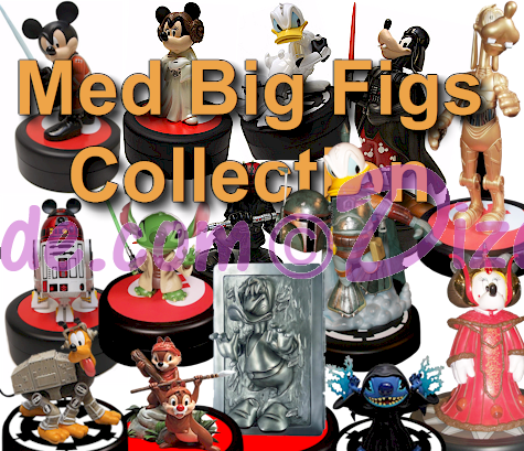 Collection of the 14 Disney Medium Big Figs ~ Star Wars Weekends Commemorative Sculptures with pins LE 1977