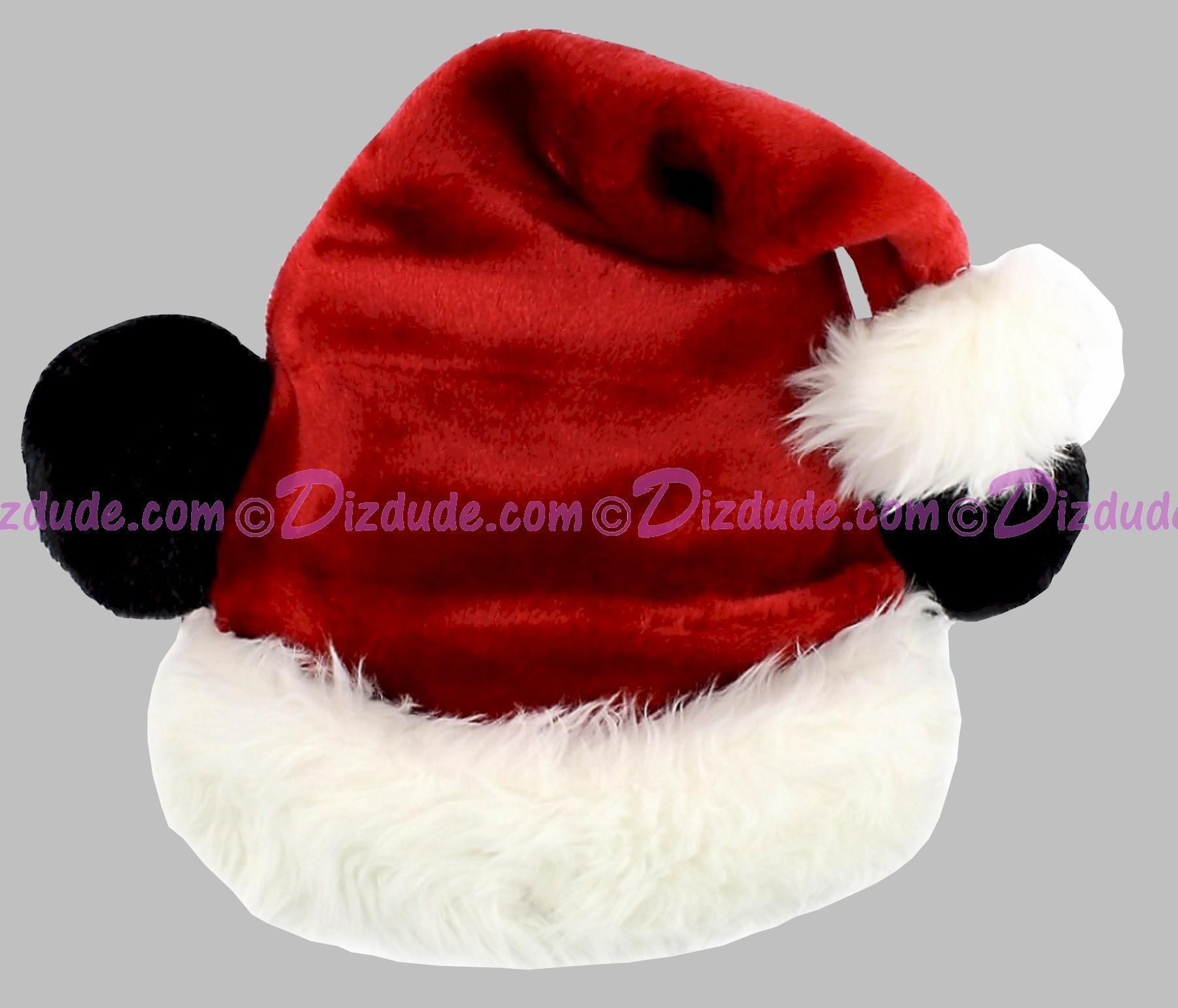 Disney Santa Mickey Mouse Ears Soft Plush Hat © Dizdude.com