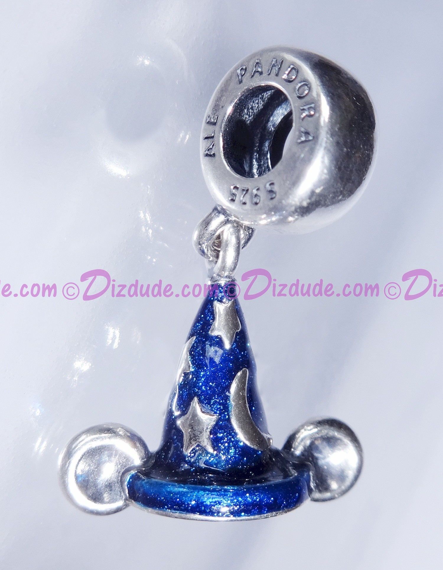 """Disney Pandora """"Mickey's Sorcerers Hat"""" Sterling Silver Charm - Disney World Parks Exclusive"""