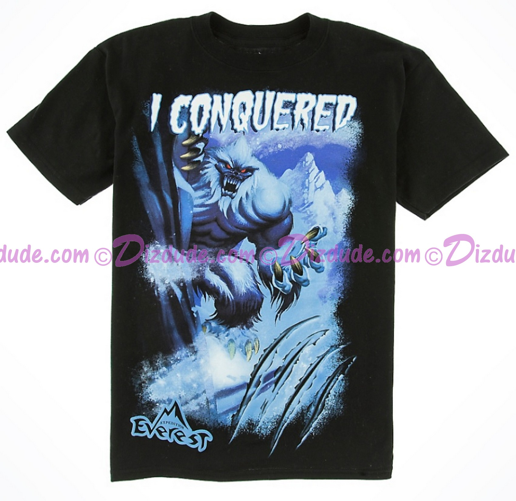 Disney Animal Kingdoms I Conquered Expedition Everest Youth T-Shirt (Tee, Tshirt or T shirt)