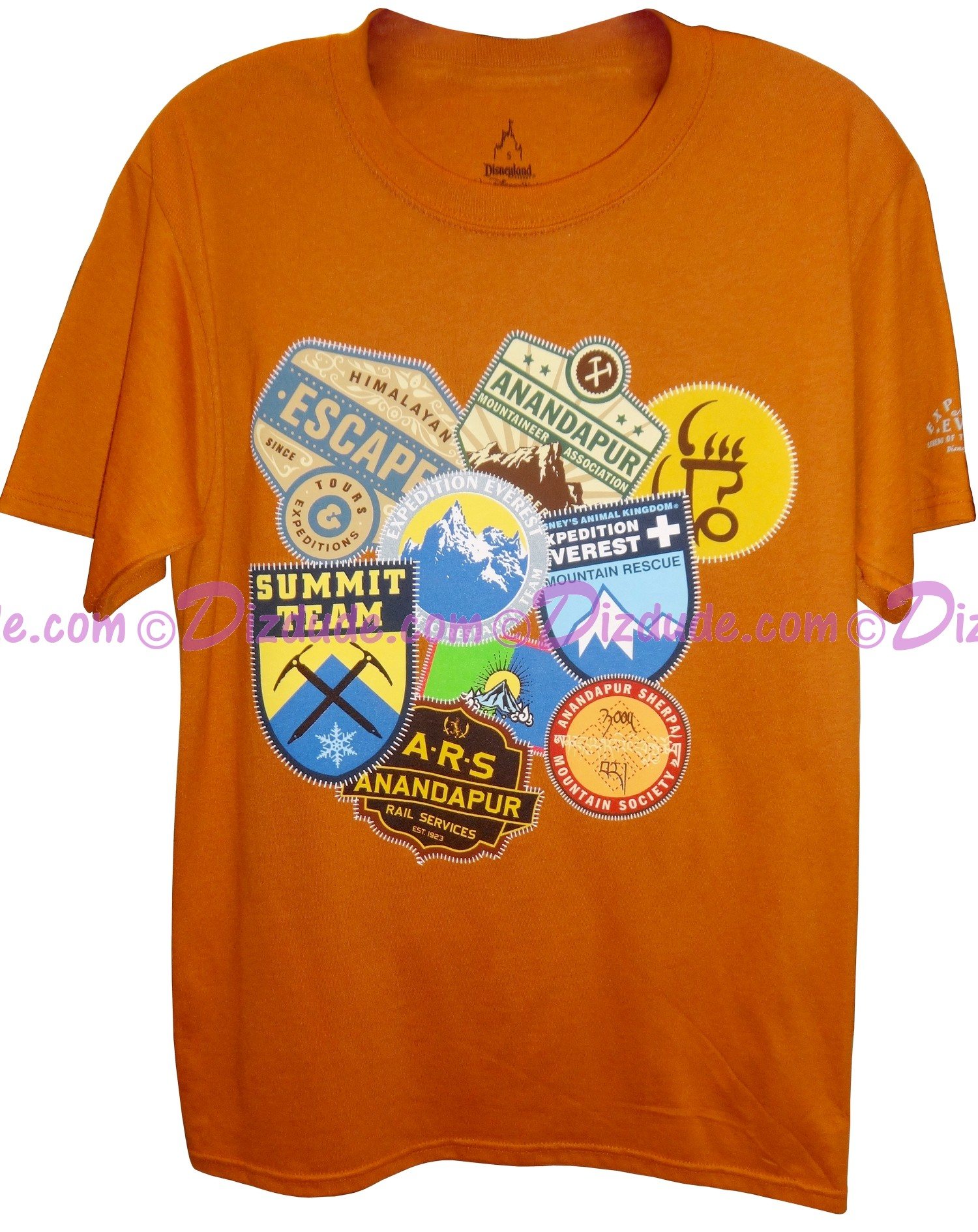 Disney Animal Kingdoms Expedition Everest Patches Adult T-Shirt (Tee, Tshirt or T shirt)