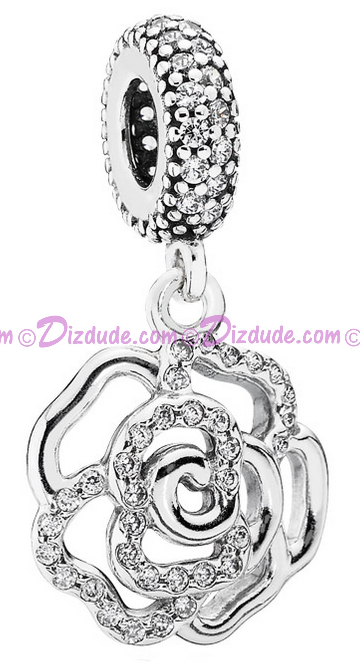 Disney Pandora Shimmering Rose Dangle Charm with Cubic Zirconias - Mothers Day Collection 2015