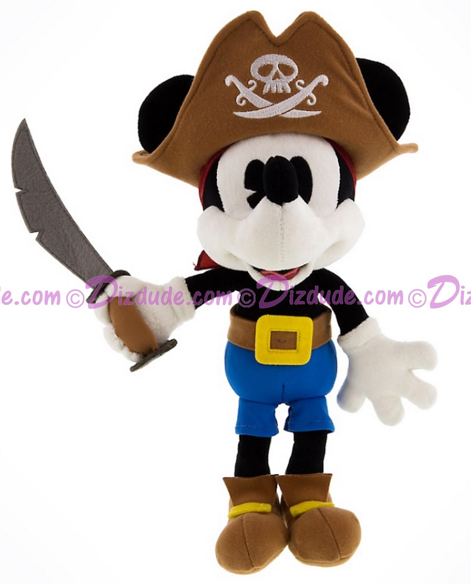 Pirate Mickey Mouse 9 inch (23 cm) Plush ~ Pirates of the Caribbean © Dizdude.com