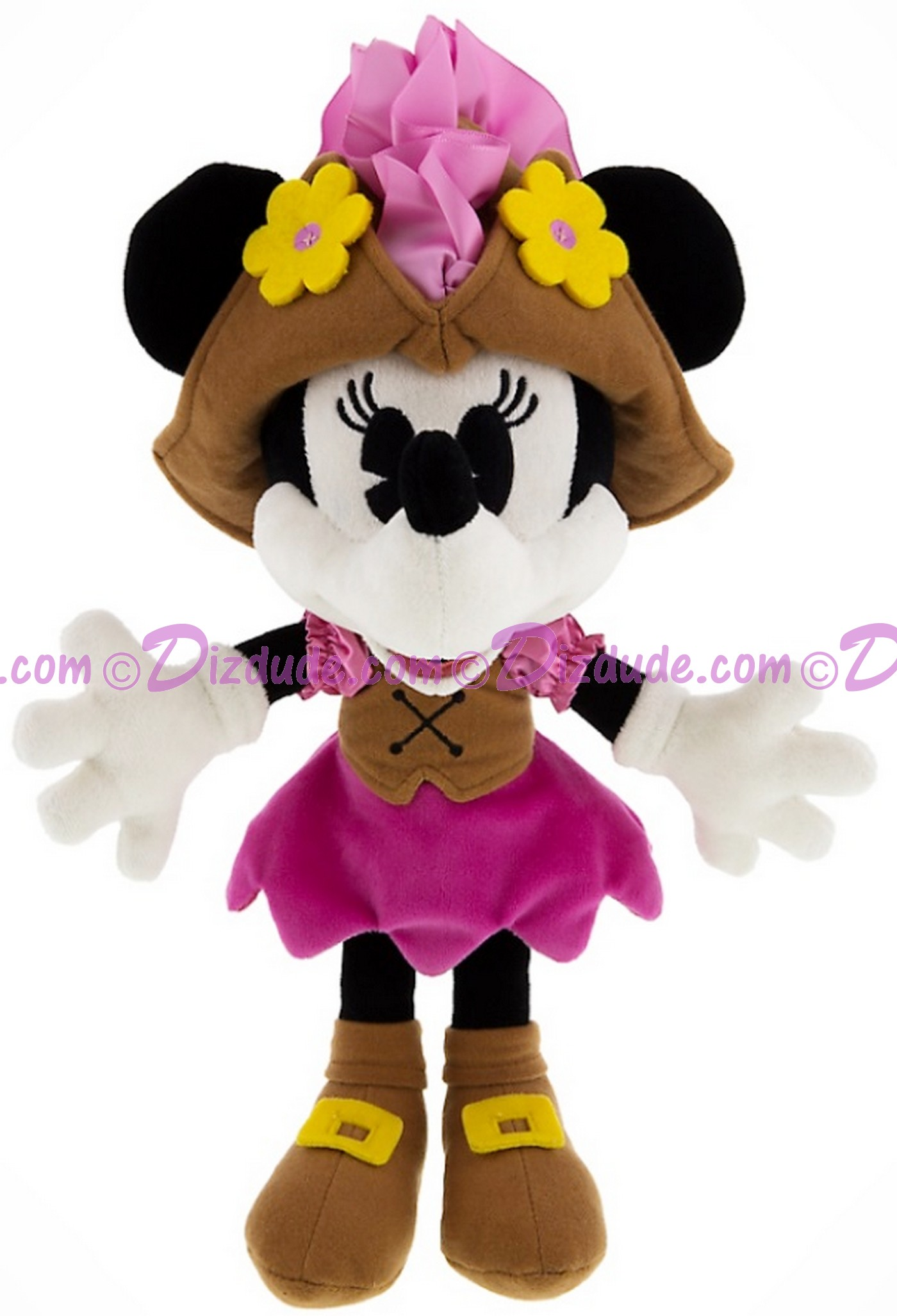 Pirate Minnie Mouse 9 inch (23 cm) Plush ~ Pirates of the Caribbean © Dizdude.com