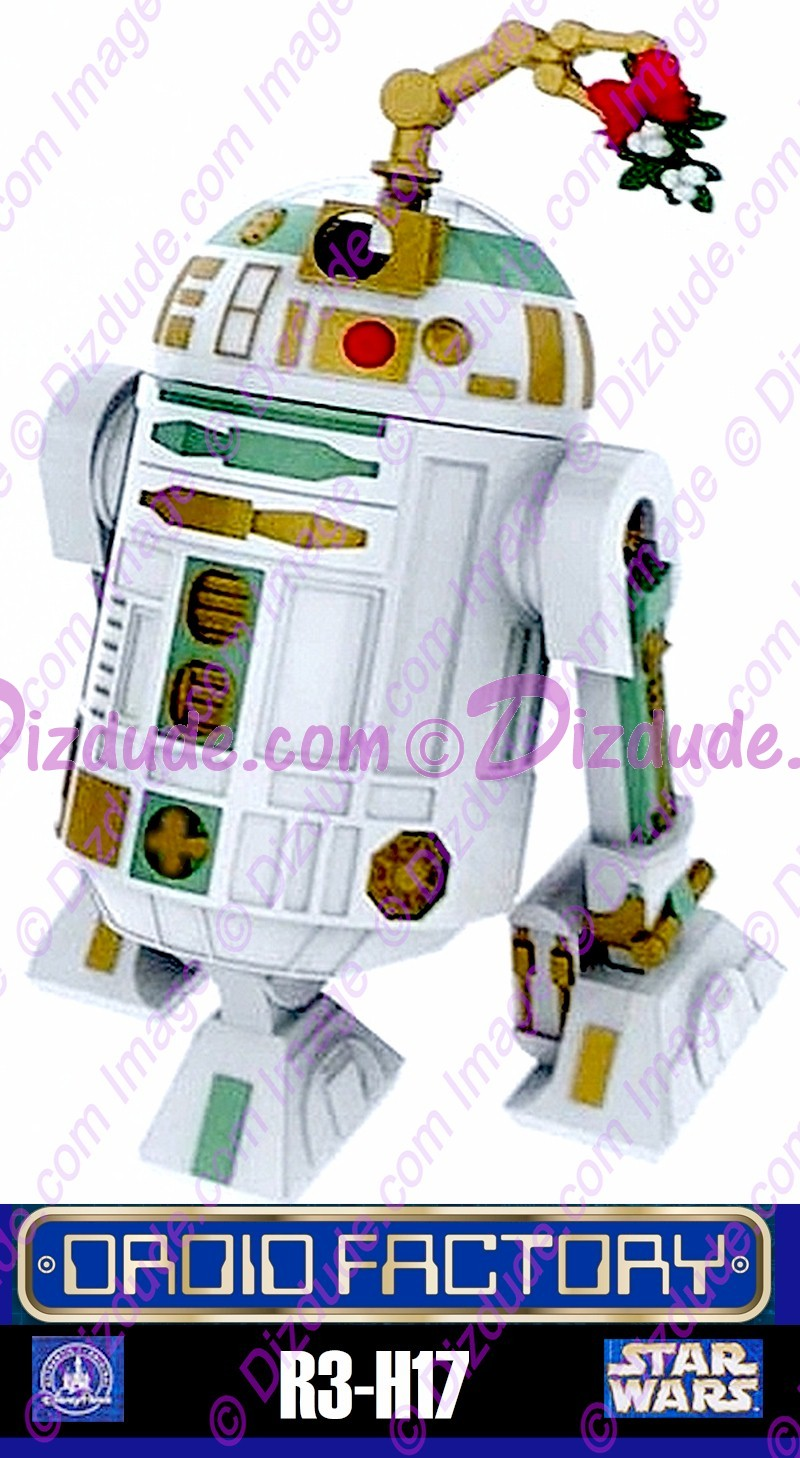 Star Wars R3-H17 Astromech Droid - Disney World DROID FACTORY Action Figures 3¾ Inch - Limited Release © Dizdude.com