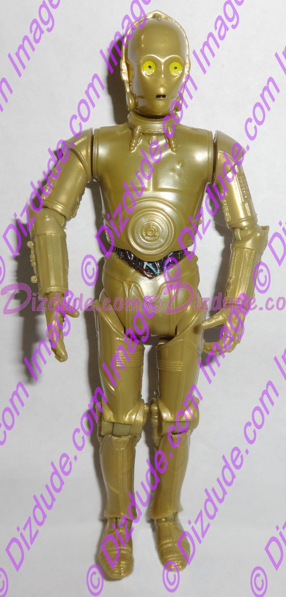 Gold C-3PO Protocol Droid from Disney Star Wars Build-A-Droid Factory © Dizdude.com