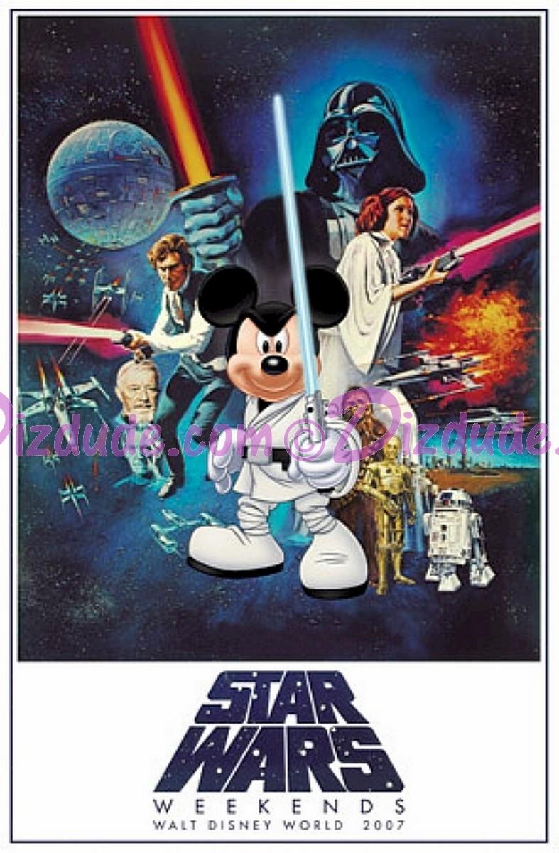Disney Star Wars Weekends 2007 Event Logo Poster © Dizdude.com