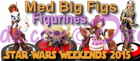 Official Disney Star Wars Weekends 2015 Event Medium Big Fig Set (and Partial sets) © Dizdude.com