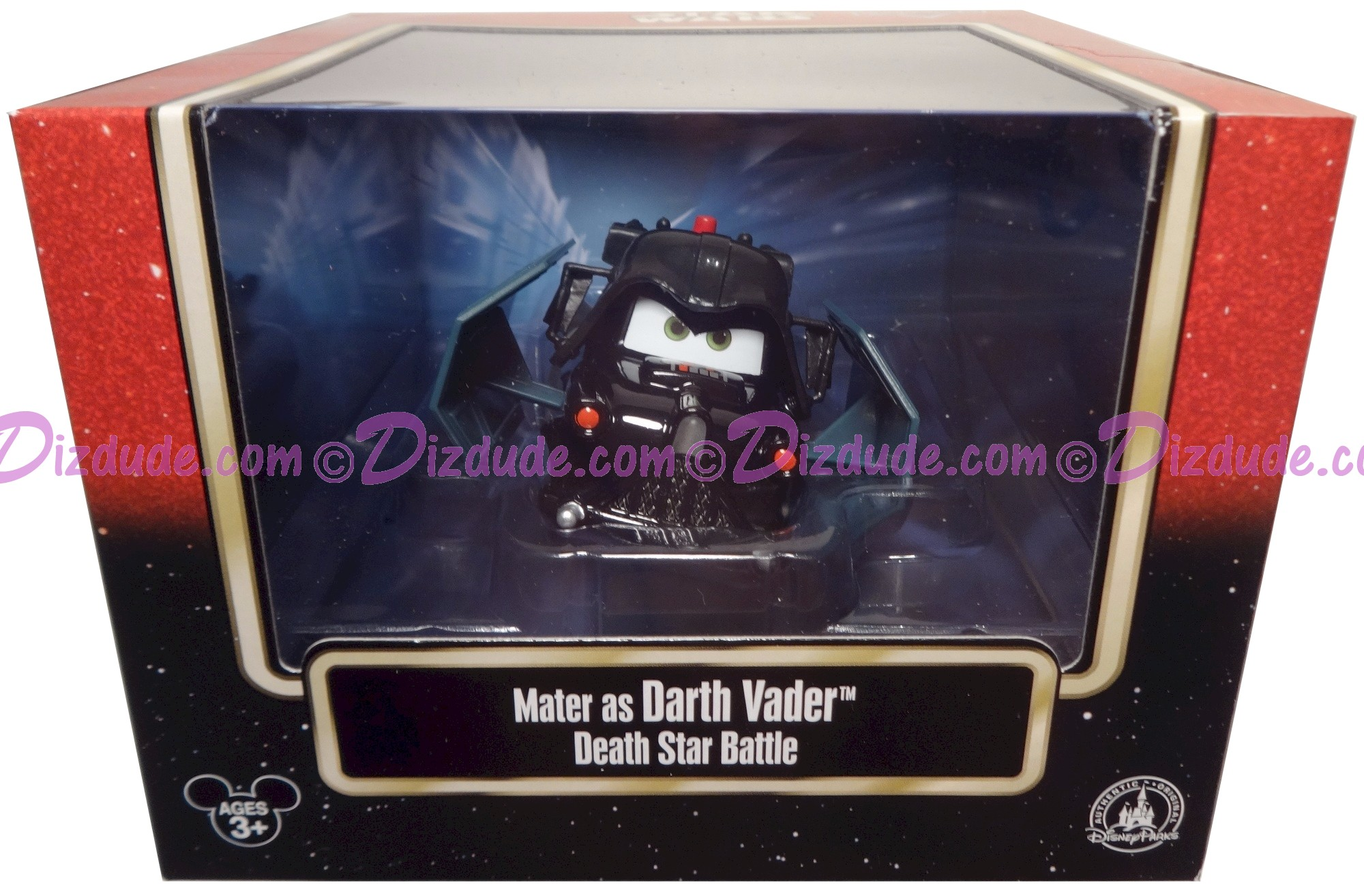 "Disney Pixar ""Cars"" as LucasFilm ""Star Wars""  Mater as Darth Vader in Tie Fighter Deluxe Box- Series 3 ~ Exclusive Star Wars Weekends 2015 © Dizdude.com"