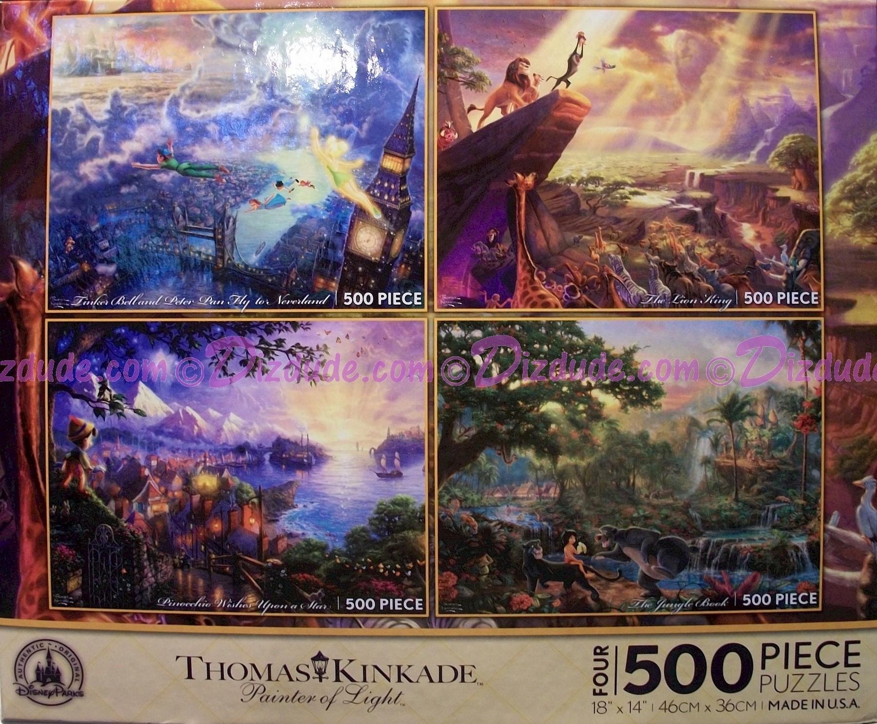Disney World Four 500 Piece Jigsaw Puzzles © Dizdude.com