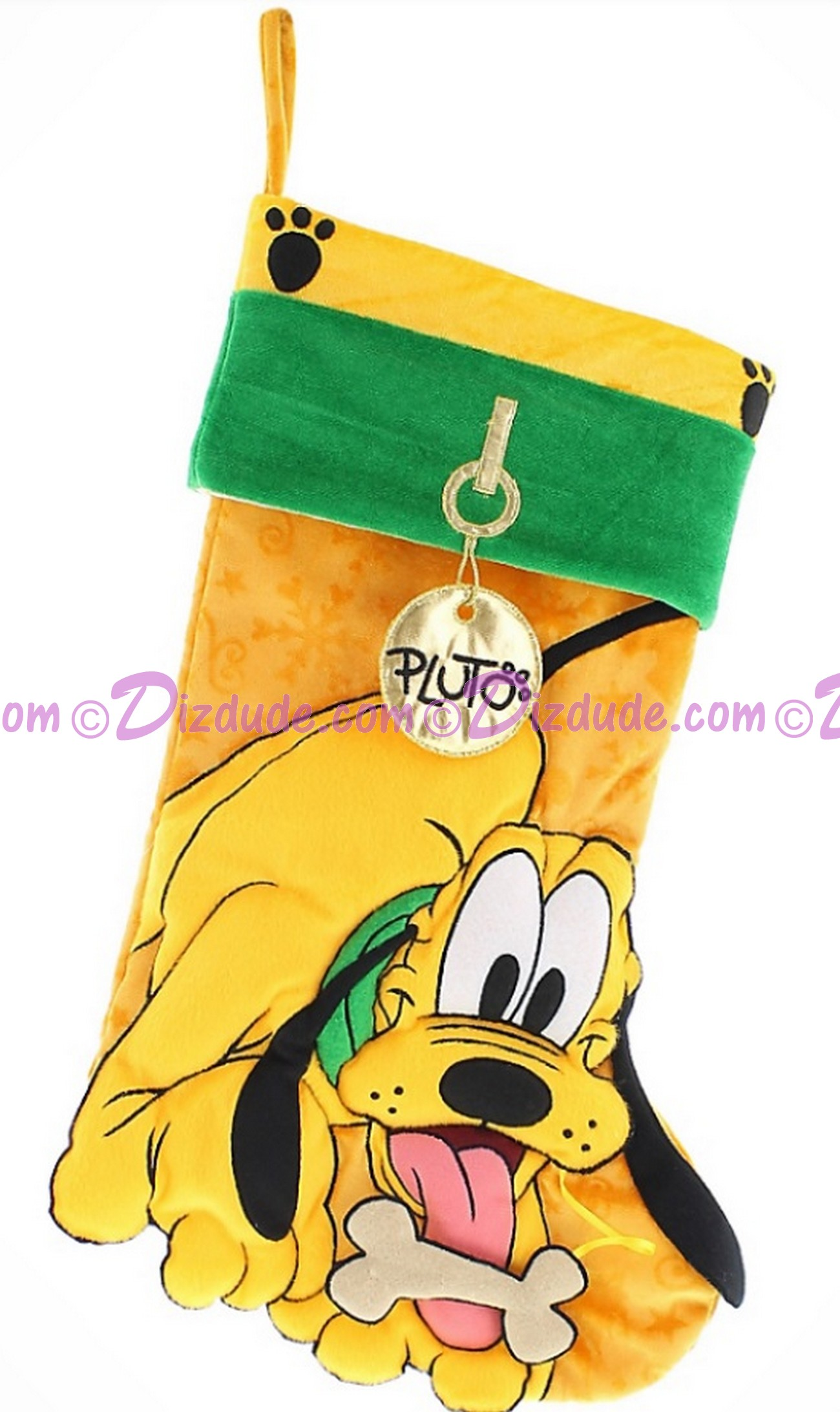 Disney Pluto Plush Christmas Stocking © Dizdude.com