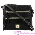 Dooney & Bourke Black Leather Sketch Slim Cross Body Bag - Disney World Exclusive