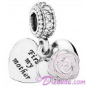 Disney Pandora Mothers Rose Silver Charm with Cubic Zirconias - Mothers Day Collection 2015