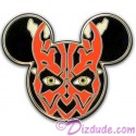 Disney Star Wars Mickey Mouse Icon - Darth Maul Pin