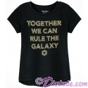 Disney Star Wars Gold Foil Darth Vader Quote: Together We Can Rule The Galaxy Youth T-shirt