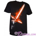 Kylo Ren Lightsaber Glow In The Dark Adult T-Shirt (Tshirt, T shirt or Tee) from Disney Star Wars: The Force Awakens
