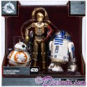 Elite Series Die Cast Action Figure Droid Set with BB-8 • C-3P0 • R2-D2 from Disney's Star Wars The Force Awakens