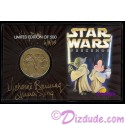 AUTOGRAPHED DISNEY'S STAR WARS WEEKENDS 2003 Bronze CLASSIC Collectors Coin By Actress Michonne Bourriague (Aurra Sing) PLUS Disney Artist Randy Noble