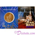 Star Wars Weekends 2004 Bronze Coin LE1000 Signed by Amy Allen (Aayla Secura, blue skined female Jedi), Peter Mayhew (Chewbacca the Wookie) and Disney artist Randy Noble