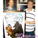 Autographed Star Wars Weekends 2011 Framed logo event prop poster Jedi Mickey VS Darth Vader from Jubba's Hutt - Signed by Disney Artist who created it Casey Jones and Greg McCullough