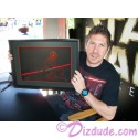 "Disney Lucas Color Illustration ""Donald as Darth Maul"" framed & Triple Autographed by Star Wars actors Ray Park (Darth Maul) & ""Star Wars: The Clone Wars"" voice actor Sam Witwer (Darth Maul) & Artist Derek Lesinski + Bonus sketch ~ Star Wars Weekend 2012"