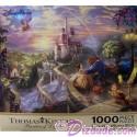 Disney World Beauty And The Beast 1000 Piece Thomas Kinkade Jigsaw Puzzle