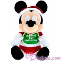 Disney Santa Mickey Baby's First Christmas 9inch Soft Plush