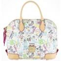 Disney Dooney & Bourke Walk in the Park Sketch Satchel Handbag