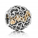 "Disney Pandora ""Dream"" 14 Karat Gold and Sterling Silver Charm"
