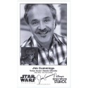 Jim Cummings the voice of Hondo Ohnaka Presigned Official Star Wars Weekends 2013 Celebrity Collector Photo