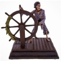 Disney's Pirates of the Caribbean Skeleton Pirate At The Ships Wheel Medium Big Fig