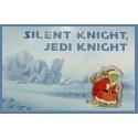 "Disney Star Wars ""Silent night Jedi Knight"" Santa Yoda Greeting Card & Pin Limited Release - Theme Park Exclusive"