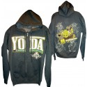 Yoda Sketch Hoodie Adult Printed Front and Back - Disney Star Wars