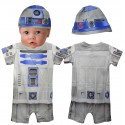 Disney Star Wars R2-D2 Baby Onesie - Costume With Hat (All Over Print)