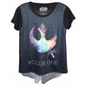 Rogue One Rebel Hi-Lo Adult T-Shirt (Tshirt, T shirt or Tee) - Disney's Star Wars