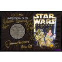 "5 Autographs on ""BOUNTY HUNTERS"" Star Wars Weekends 2003 Collectors Nickle Silver Coin ~ Jeremy Bullock (Boba Fett) Temuera Morrison (Jango Fett) Michonne Bouriague (Aurra Sing) Daniel Logan (Young Bob Fett) & Disney Artist Randy Noble"