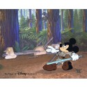 "Star Wars: ""Return of the Jedi"" Disney's JEDI MICKEY in ""Defend-Ears of the Kingdom"" Unframed hand painted Cel by Disney Animation Gallery"