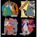 Walt Disney World Cast Lanyard Series 2 ~ Complete Set of 4 pins Pets of Stars Rajah, Djali, Abu & Meeko