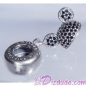 """Disney Pandora """"Mickey Sparkling Ear Hat"""" Sterling Silver Charm with Black Crystals - Disney World Parks Exclusive"""