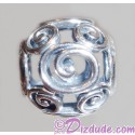 "Disney Pandora ""Mickey Swirls"" Sterling Silver Charm - Disney World Parks Exclusive"