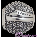 "Disney Pandora ""Epcot spaceship Earth"" Sterling Silver Charm - Disney World Parks Exclusive"