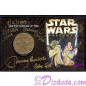"4 Autographs on ""BOUNTY HUNTERS""  Disney Star Wars Weekends 2003 Collectors Bronze Coin 2003 ~ Actors Jeremy Bullock (Boba Fett) Michonne Bouriague (Aurra Sing) Daniel Logan (Young Bob Fett)"